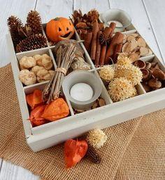 Herfst themadoos voor in huis. Hoe je deze sfeervolle doos vol met herfst dingen maakt staat op mijn blog Homemade by Joke.