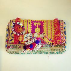 Rossio Roos Batala Clutch and Indian tassel