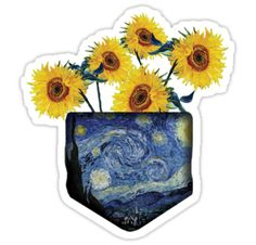 Van Gogh inspired pocket art • Also buy this artwork on stickers, apparel, phone cases, and more.