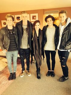 Demi + The Vamps ... is she really short or are they actually tall?!