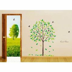 Sweet Home Tree With Birds Wall Decals