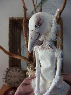 Ooak Doll Jacqueline White Raven
