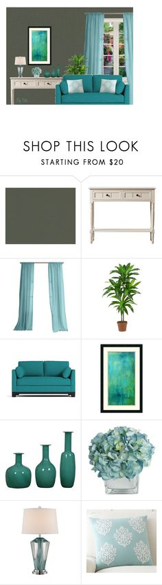 """Dark Walls - Elegant Room"" by selene-cinzia ❤ liked on Polyvore featuring interior, interiors, interior design, home, home decor, interior decorating, Nearly Natural, Amanti Art and Pottery Barn"