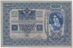Austrian bank note, austria kronen Woman & Austrian Coat of Arms. On reverse, a woman & Hungarian Coat of Arms. Stains, ink stain in corner. Budapest, Money Worksheets, Austro Hungarian, Antique Coins, Old Money, Vintage Stamps, Coin Collecting, Austria, Old Things