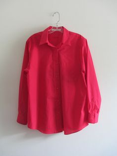 Check out this item in my Etsy shop https://www.etsy.com/listing/238910488/vintage-foxcroft-bright-red-solid