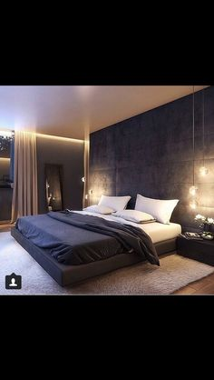 Awesome Detail Bedroom Design Ideas 3622 ration here from Industrial Interior I'd love to live here😍 Modern Master Bedroom, Home Room Design, Modern Bedroom Design, Master Bedroom Design, Home Decor Bedroom, Home Interior Design, Bedroom Loft, Casa Loft, Suites