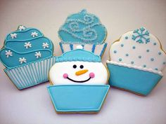 images of winter cookies | Flour Box Bakery — Winter Cupcakes