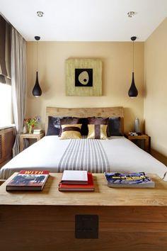 Rustikales Bett Schlafzimmer Gestalten Mit Stil Pendelleuchten