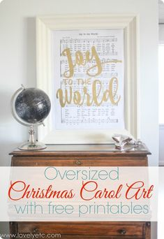 Free Printable Christmas Carol Art