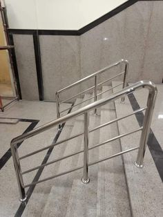 Stainless Steel Stair Railing, Steel Railing Design, Steel Stairs, Stainless Steel