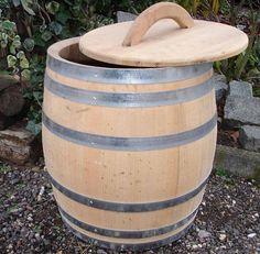 Regenton hout, 50 liter - Dakgoten en regenwater opvangen - De Wiltfan