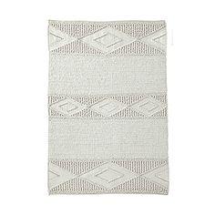 Ivory Macrame Wool Rug