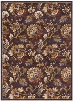 Khl Rugs KHL Rugs Courtney Transitional Floral Rug Rectangle Area, Floral Rug, Floral Design