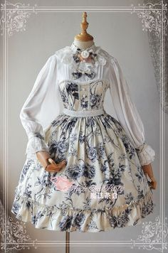 Magic Tea Party ~Blue and White Porcelain~ Lolita OP Dress - My Lolita Dress