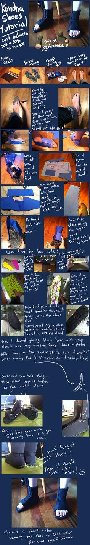 Naruto - Konoha Shoes Tutorial by Aruthe.deviantart.com on @DeviantArt