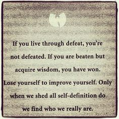 """#lessonoftheday #lifelessons #wutang #rza #quotes"""