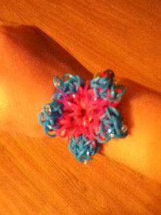 Hibiscus rainbow loom bracelet