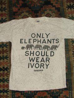 Vintage Anti Ivory Pro Elephant Shirt from by 2PIFFED2SLEEP