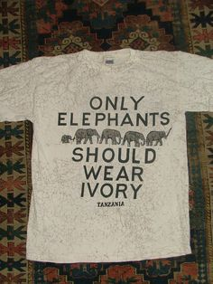 Vintage Anti Ivory Pro Elephant Shirt from by 2PIFFED2SLEEP