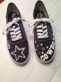 Dallas Cowboys Painted Sneakers by CooperAveryDesigns on Etsy, $55.00