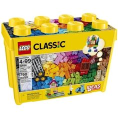 Build up a storm with this big box of classic LEGO® bricks in 33 different colors. With lots of different windows and doors, along with other special pieces to inspire you, you can really run with your imagination. With some ideas to get you started, this set provides the perfect creative toolkit for budding builders of all ages to enjoy some classic LEGO construction. It comes in a convenient plastic storage box and is an ideal supplement to any existing LEGO collection.