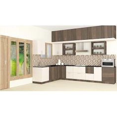 Bacton L – Shaped Kitchen with Laminate Finish - Kitchen Furniture L Shaped Kitchen Interior, L Shaped Modular Kitchen, L Shaped Kitchen Designs, Kitchen Cupboard Designs, Classic Kitchen Furniture, Rustic Furniture, Luxury Furniture Stores, Furniture Outlet, Discount Furniture