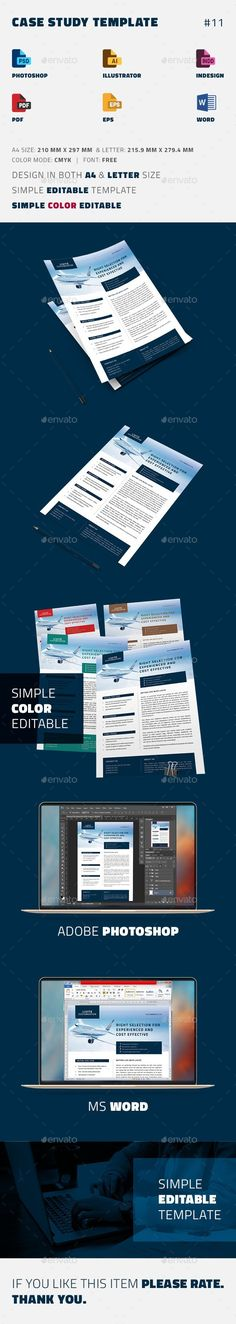 Case Study Template | Print templates, Template and Newsletter templates