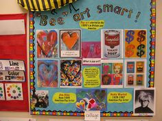 "Bulletin Boards to Remember: ""Bee Art Smart"" from St. George Place Elementary"