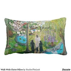 Walk With Christ Pillow Beautiful designed inspirational throw pillow will go great with any decor.