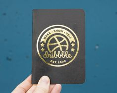 Dribbble Scout Books (with gold foil!)