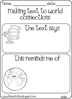 Classroom Freebies: Text to World Connections