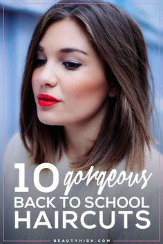 10 gorgeous back to school haircuts // Shoulder length cut with a subtle ombre