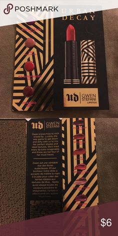 🔵UD Gwen Stefani lipstick samples Never tested, ask about free shipping! Urban Decay Makeup Lipstick