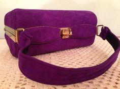 Vintage 1980s Purple Suede Handbag by InTheMood4Vintage on Etsy, $35.00