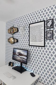 Grey and white geometric pattern self-adhesive wallpaper Bts Laptop Wallpaper, Logo Wallpaper Hd, Apple Logo Wallpaper Iphone, Boys Wallpaper, Tree Wallpaper, Self Adhesive Wallpaper, Fabric Wallpaper, Pattern Wallpaper, Wallpaper Ideas
