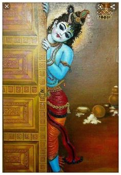 Krishna Leela, Cute Krishna, Radha Krishna Love, Krishna Radha, Radha Rani, Kerala Mural Painting, Tanjore Painting, Indian Art Paintings, Krishna Drawing