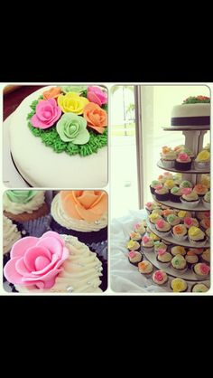 wedding cupcake tower by Krazylicious