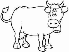 Image for Picture of a Cow to Color
