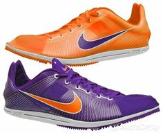 New NIKE Zoom Matumbo Mens Track & Field Spikes Long-Distance Running Shoes - Purple / Orange