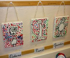 Very effective for children's self portraits Yayoi Kusama, Kindergarten Art, Preschool Crafts, Salles D'art Élémentaires, Elementary Art Rooms, Grande Section, Science Art, Art Plastique, Teaching Art