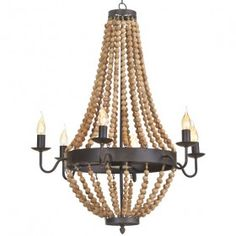 Beachy, coastal and eclectic, our Tyler Beaded Chandelier will be the perfect neutral light fixture, without lacking in style. Wooden beads string from iron structures, creating a gorgeous cascading effect. White Chandelier, Beaded Chandelier, Chandelier Lighting, Chandeliers, Overhead Lighting, Home Lighting, Lighting Ideas, Dining Lighting, Island Lighting