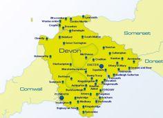 Devon Map     Nuestro programa de inglés en Windmill House se realiza en Totnes. Éste es un pueblo único, situado en el corazón de Devon, en medio de la campiña inglesa, de gran cultura bohemia y artística, con un precioso market en la plaza del pueblo que se hace cada sábado. Totnes cuenta con una gran historia, un ambiente relajado y es  famoso por la comida orgánica, y el entorno pintoresco.    #WeLoveBS #inglés #idiomas #Totnes #ReinoUnido #RegneUnit #UK  #Inglaterra #Anglaterra