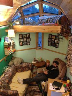 yuris aluminum tiny house project 004   Aluminum Tiny House on Wheels with Sliding Loft & Glass Loft