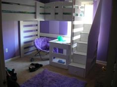 Image result for bunk bed with desk and storage