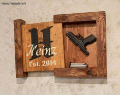 Solid Pine Concealed Storage Gun Storage Hidden by HeinzWoodcraft