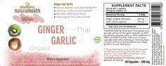 Combination Pack: Botaniceutics Organic Ginger and Garlic & Turmeric and Black Pepper 500 mg - 10 Bottle Set - 900 Capsules Circulatory Health from Natural Ginger, Turmeric Curcumin and Garlic Allium Turmeric Supplement, Turmeric Curcumin, Allium, Garlic, Herbs, Organic, Stuffed Peppers, Bottle, Natural