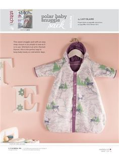Pattern: Polar Baby Snuggle Sack - Media - Sew Daily