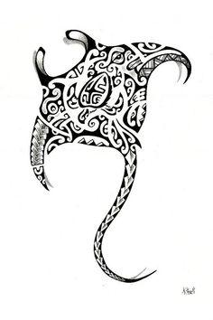 Manta Ray Tattoos, Shark Tattoos, Skull Tattoos, Body Art Tattoos, Spine Tattoos, Tribal Tattoos For Men, Leg Tattoo Men, Tattoos For Guys, Polynesian Tattoo Designs