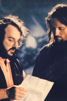 Behind the scenes: Peter Jackson and Viggo Mortenson