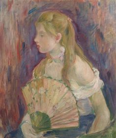 Girl with Fan - Berthe Morisot  1893